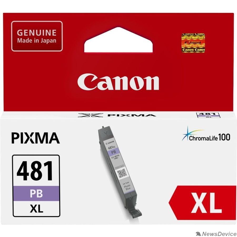 Расходные материалы Canon CLI-481XL PB 2048C001 Картридж для PIXMA TS6140/TS8140TS/TS9140/TR7540/TR8540,  фото голубой