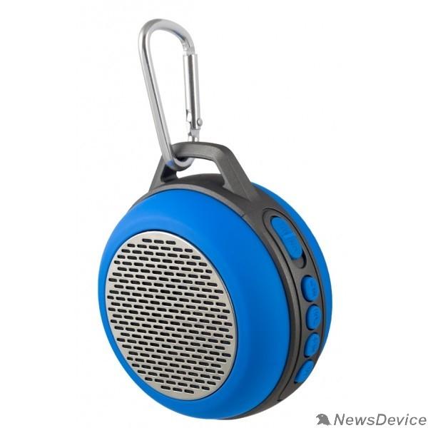 "Колонки Perfeo Bluetooth-колонка PF-BT-SOLO-BL ""SOLO"" FM, MP3 microSD, AUX, мощность 5Вт, 600mAh, синий"