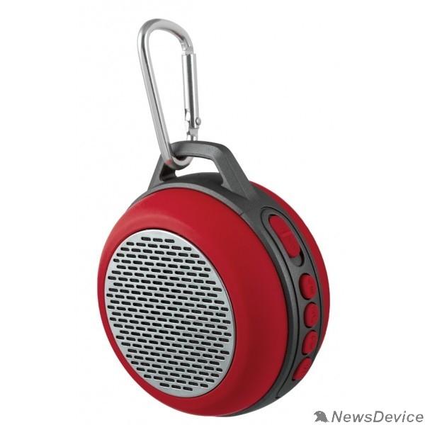 """Колонки Perfeo Bluetooth-колонка PF-BT-SOLO-RD """"SOLO"""" FM, MP3 microSD, AUX, мощность 5Вт, 600mAh, красная PF_5206"""