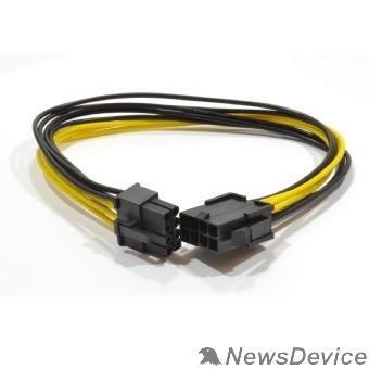 Кабель Cablexpert Удлинитель кабеля питания PCI-Express 6+2pin M/ PCI-Express 6+2pin F, 30см (CC-PSU-84)