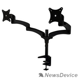 """Крепления для проекторов Cactus CS-VM-FE124D-BK черный Кронштейн для 2-х мониторов 15""""-27"""" макс.8кг настольный поворот и наклон"""