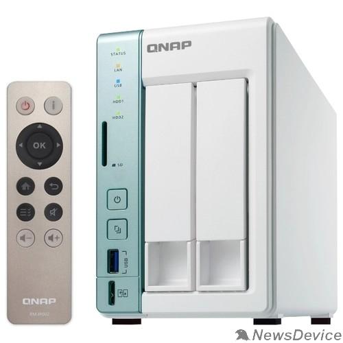 Дисковый массив QNAP D2 Pro Сетевое хранилище 2 отсека для HDD, с функцией USB Quick Access, HDMI-порт. Intel Celeron N3060 1,6 ГГц (до 2,48 ГГц), 1 ГБ