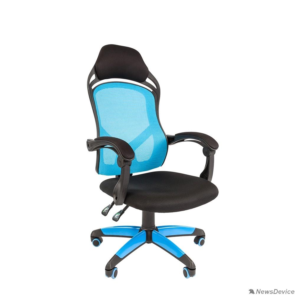 Офисные кресла Офисное кресло Chairman    game 12  Россия черн.голубой (7016633)