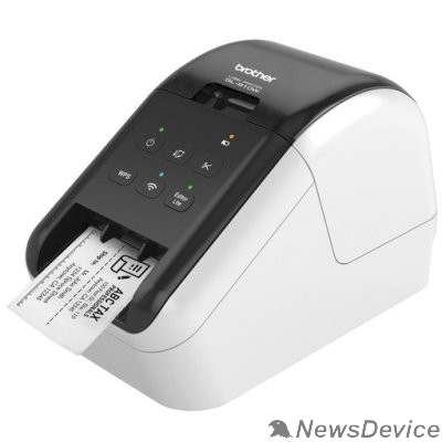 Принтер Brother QL-810W Принтер для изготовления наклеек авторезак, ленты до 62 мм, до 110 наклеек/мин, 300 т/д, WiFi (QL810WR1)