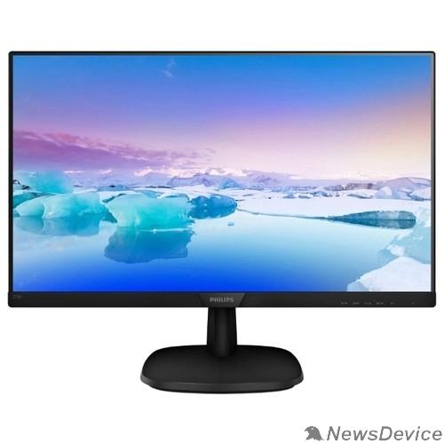 """Монитор LCD PHILIPS 27"""" 273V7QSB (00/01) черный IPS LED 1920x1080 75Hz 5мс 16:9 250cd 178/178 1000:1 8bit(6bit+FRC) DVI D-Sub FlickerFree AudioOut VESA"""
