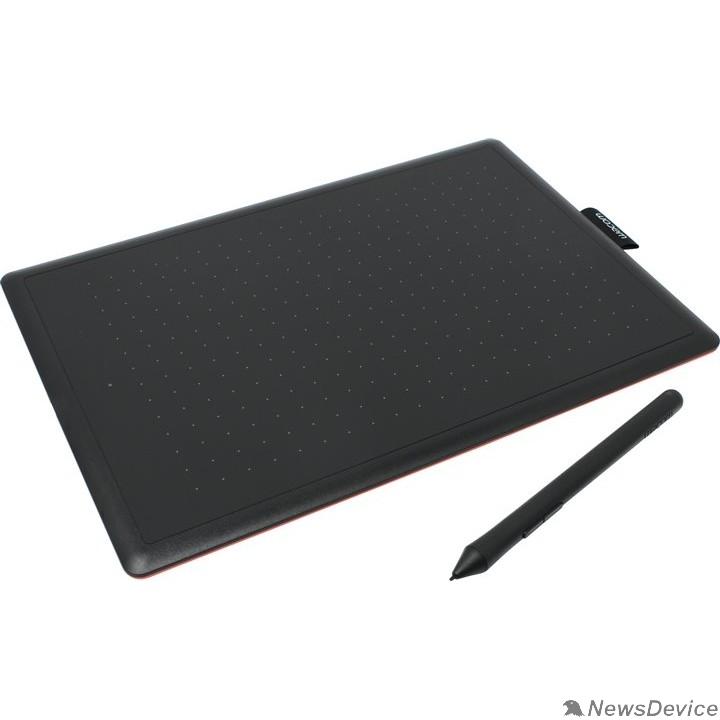Графический планшет Графический планшет Wacom One by Medium USB черный/красный CTL-672-N