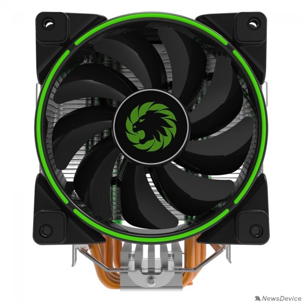 Вентиляторы GameMax Gamma 500 Green Кулер универсальный, Intel/AMD TDP 187W CPU