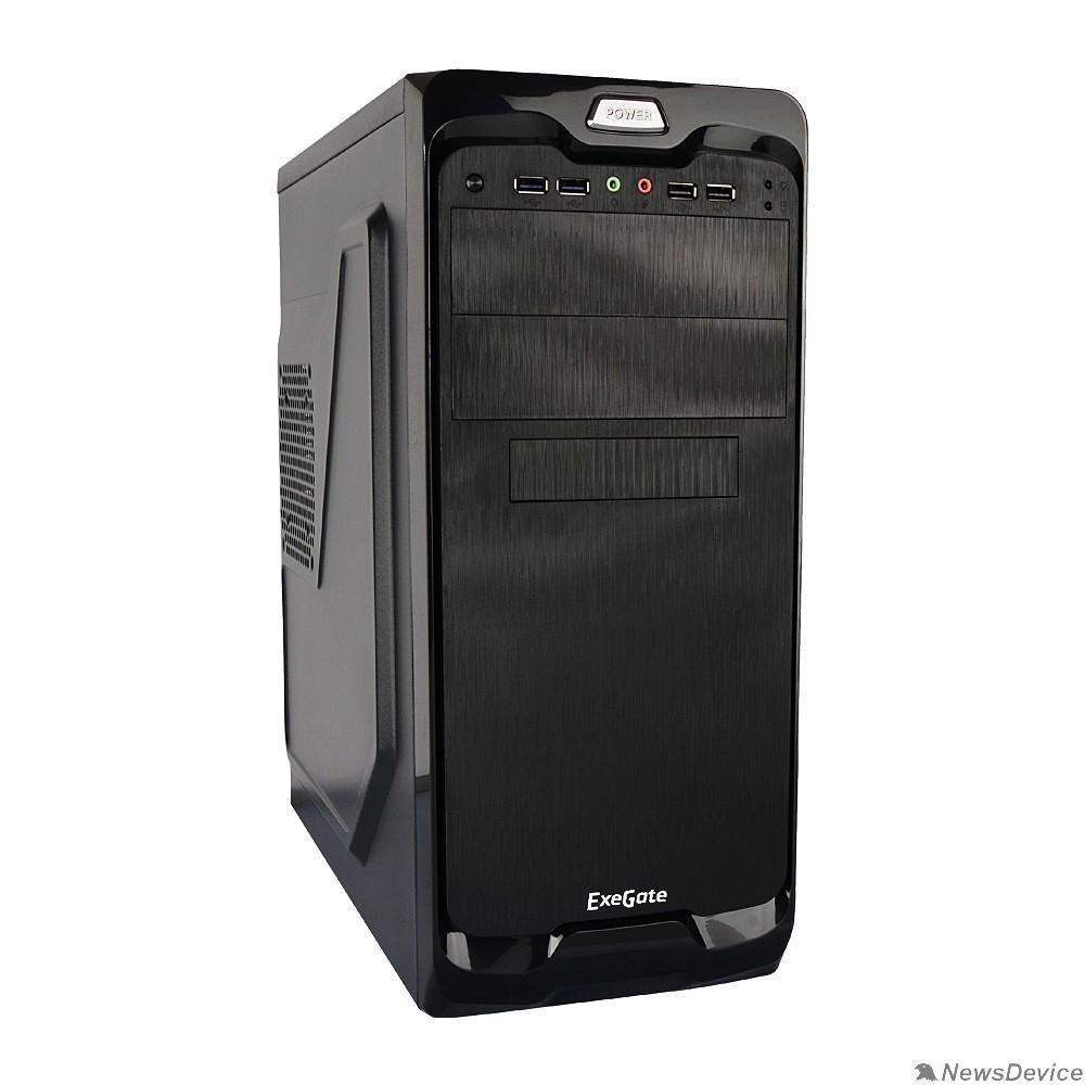 Корпуса Exegate EX269438RUS Корпус Miditower UN-604 Black, ATX, <UN500, 120mm> 2*USB+2*USB3.0, Audio