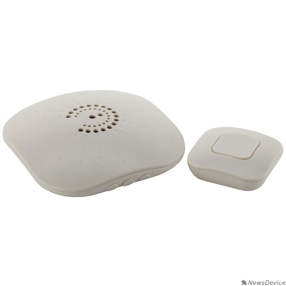 Звонки ЭРА Б0018090 Звонок беспроводной BIONIC Ivory 6 мелодий, регулятор громкости, радиус 100м, кнопка IP44