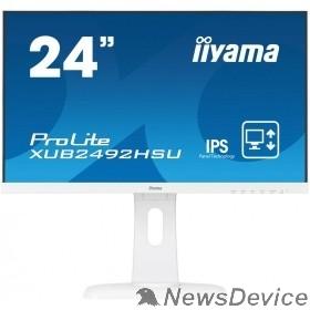 "Монитор IIYAMA 23.8"" XUB2492HSU-W1 белый IPS LED 1920x1080 5ms 16:9 1000:1 250cd 178гр/178гр D-Sub DisplayPort HDMI 2x2W"
