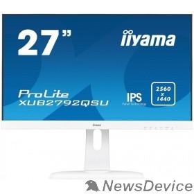 "Монитор IIYAMA 27"" XUB2792QSU-W1 белый IPS LED 2560x1440 5ms 16:9 350cd 178гр/178гр DVI HDMI DisplayPort"