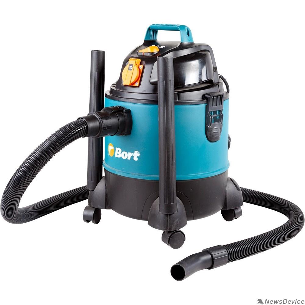 Пылесосы строительные Bort BSS-1220-Pro Пылесос строительный 98291797  1250 Вт, вместимость 20 л, 36 л/сек, 4,5 кг, набор аксессуаров 10 шт