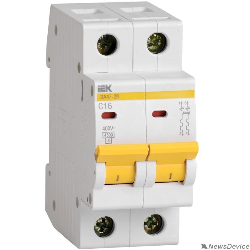 Модульное оборудование Iek MVA20-2-002-B Авт. выкл.ВА47-29 2Р  2А 4,5кА х-ка В ИЭК