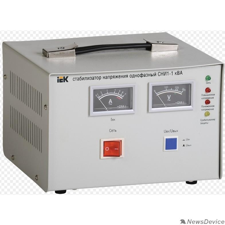 Стабилизаторы напряжения Iek IVS10-1-01000 Стабилизатор напряжения СНИ1-1 кВА однофазный ИЭК