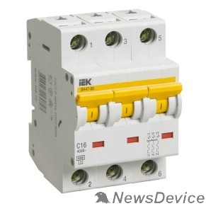 Модульное оборудование Iek MVA41-3-004-C Авт.выкл. ВА 47-60 3Р 4А 6 кА  х-ка С IEK