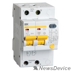 Дифавтоматы Iek MAD10-2-016-C-030 Диф.автомат АД12 2Р 16А  30мА ИЭК