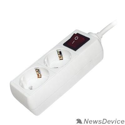 бытовые удлинители Iek WYP10-16-02-03-ZK-N Удлинитель У02К-выкл. 2 места 2Р+РЕ/3 метра 3х1мм2 16А/250 IEK