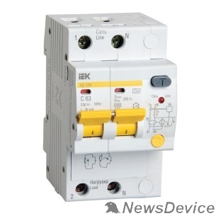 Дифавтоматы Iek MAD12-2-016-C-030 Диф.автомат АД12М 2Р С16  30мА ИЭК