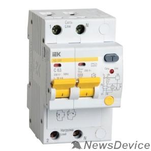 Дифавтоматы Iek MAD12-2-016-B-030 Диф.автомат АД12М 2Р B16  30мА ИЭК