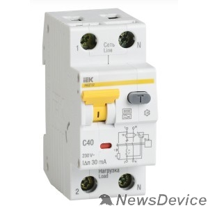 Дифавтоматы Iek MAD22-5-050-C-100 АВДТ 32 C50 100мА  - Автоматический Выключатель Дифф. тока