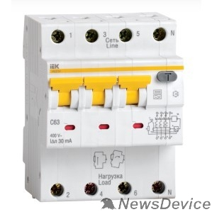 Дифавтоматы Iek MAD22-6-050-C-300 АВДТ 34 C50 300мА - Автоматический Выключатель Дифф. тока