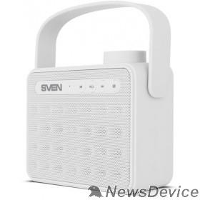 Колонки SVEN PS-72,  белый  (6  Вт, Bluetooth, FM, USB, microSD, ручка )