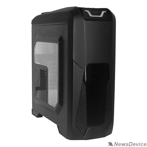 Корпуса Exegate EX270558RUS Корпус Miditower Exegate EVO-8202 Black-Red light, ATX, <без БП>, с окном, 2*USB+1*USB3.0, Audio