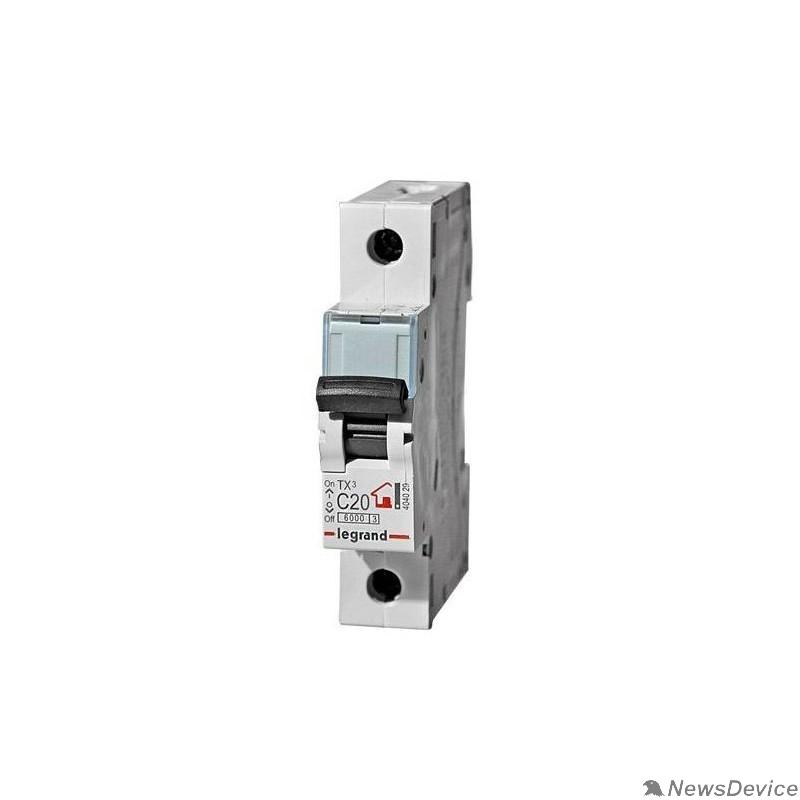 Вспомогательные элементы и аксессуары Legrand 404032 Автоматический выключатель TX3 6000 - 6 кА - тип характеристики C - 1П - 230/400 В~ - 40 А - 1 модуль