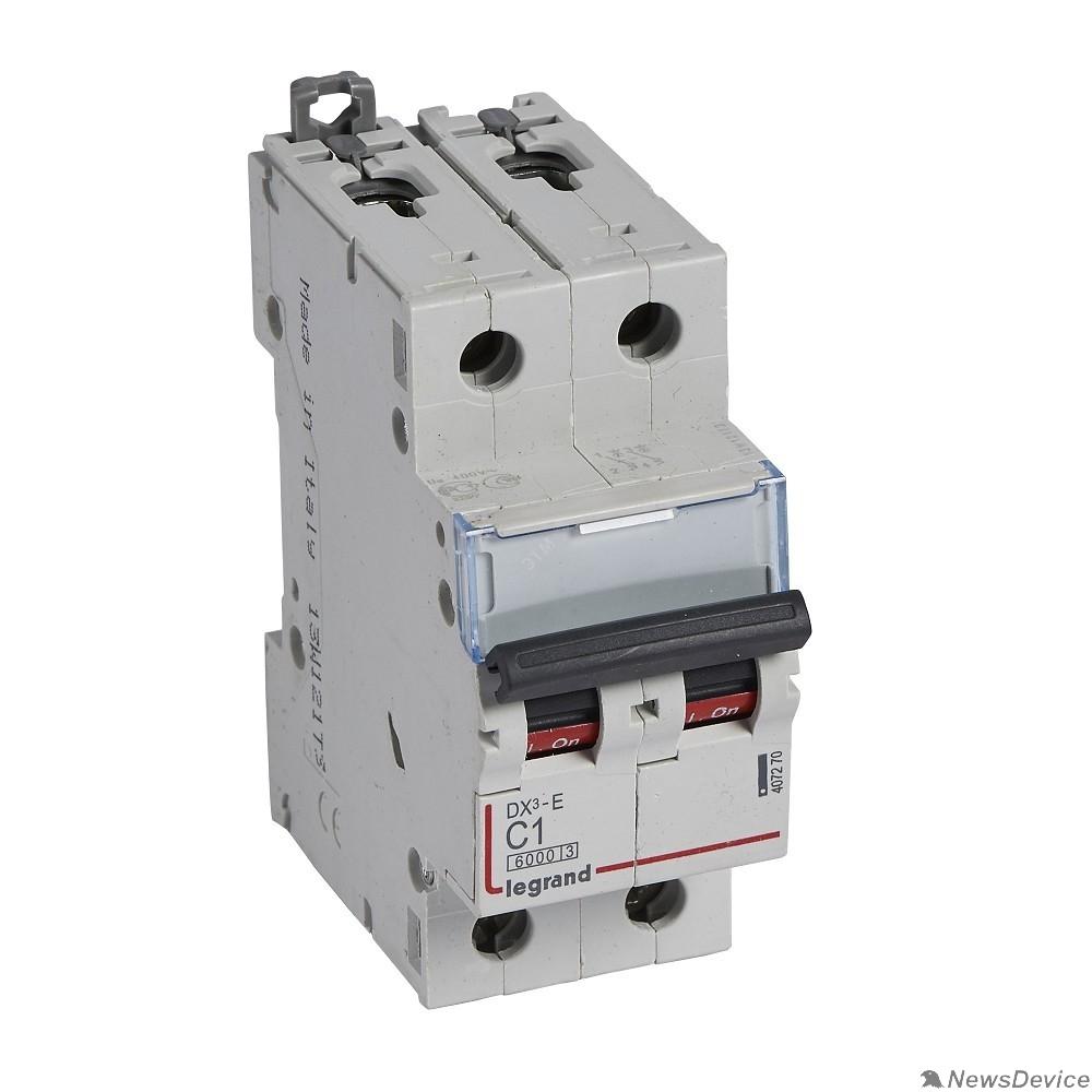 Вспомогательные элементы и аксессуары Legrand 407281 Автоматический выключатель DX3-E 6000 - 6 кА - тип характеристики C - 2П - 230/400 В~ - 40 А - 2 модуля