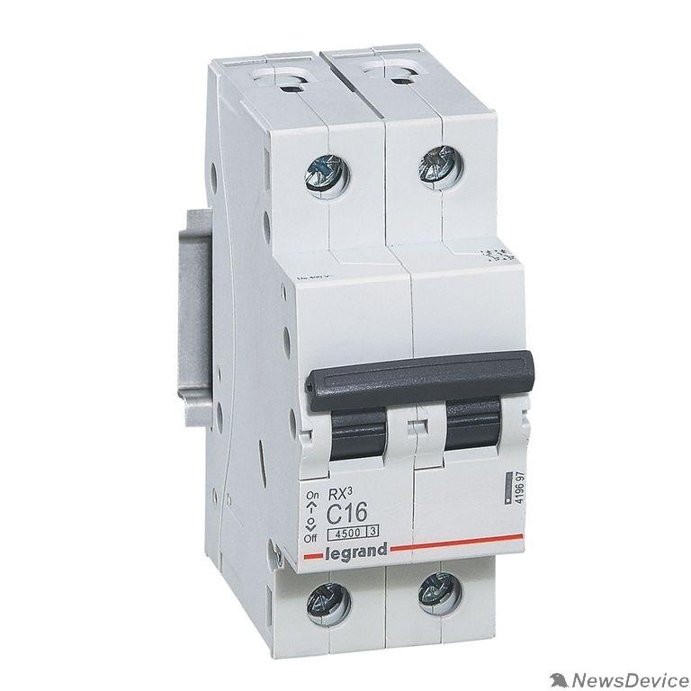 Вспомогательные элементы и аксессуары Legrand 419697 RX3 Авт.выключатель 4,5кА 16А 2П C