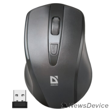 Мышь Defender Datum MM-265 черный Беспроводная оптическая мышь, 3 кнопки,1600 dpi 52265