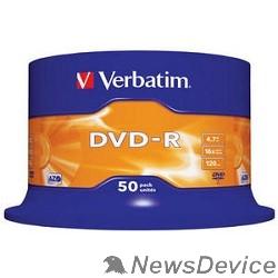 Диск Verbatim  Диски DVD-R  4.7Gb 16-х, 50шт, Cake Box (43548)
