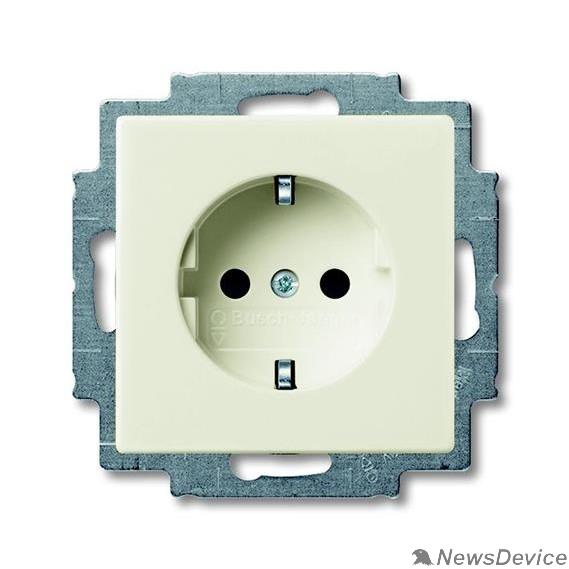 ABB Розетки и выключатели ABB 2011-0-6154 Розетка SCHUKO 16А 250В, с винтовыми клеммами, серия Basic 55, цвет слоновая кость