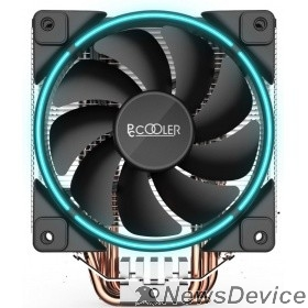 Вентиляторы PCCooler GI-X5B Кулер GI-X5B S775/115X/AM2/AM3/AM4 (24 шт/кор, TDP 160W, вент-р 120мм с PWM, Blue LED FAN, 5 тепловых трубок 6мм, 1000-1800RPM, 26.5dBa)