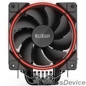 Вентиляторы PCCooler GI-X6R Кулер GI-X6R S775/115X/AM2/AM3/AM4 (24 шт/кор, TDP 160W, вент-р 120мм с PWM, Red LED FAN, 5 тепловых трубок 6мм, 1000-1800RPM, 26.5dBa)
