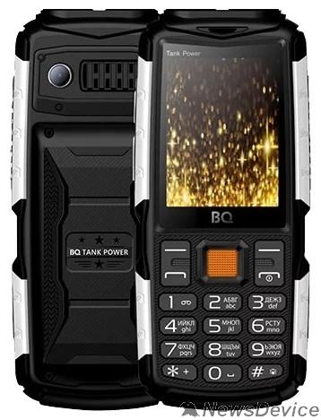 Мобильный телефон BQ 2430 Tank Power Black+Silver