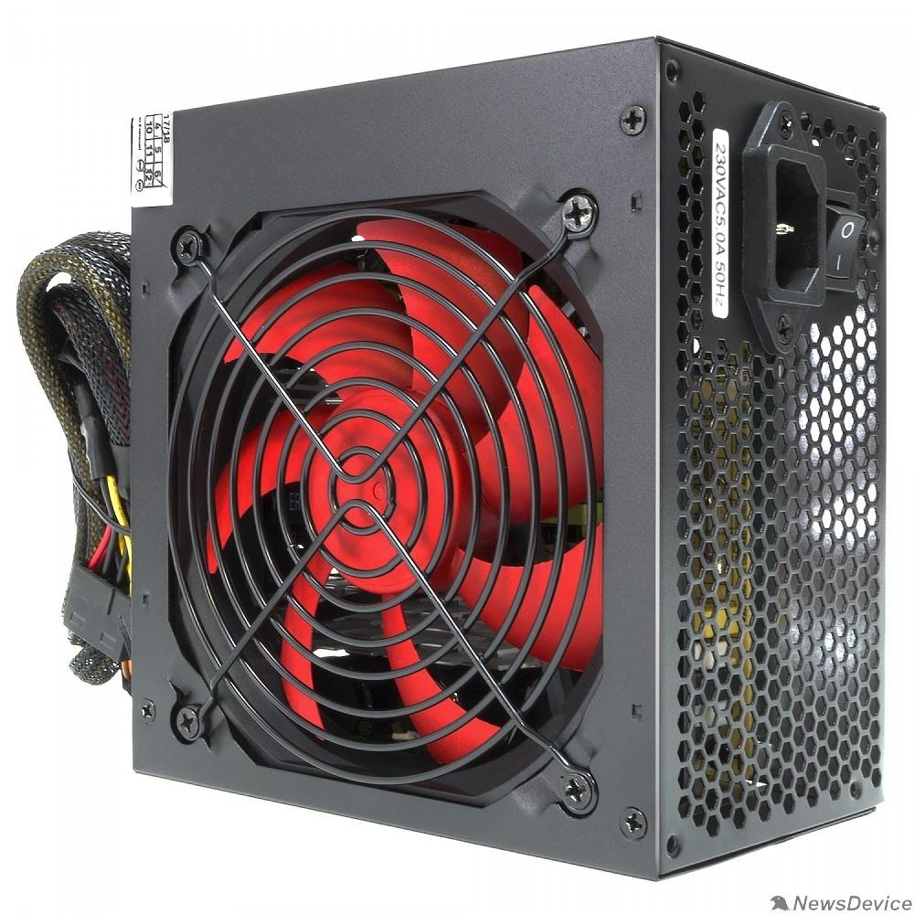 Блок питания CROWN Блок питания CM-PS500W PLUS OEM (ATX 500W, EMI/CE, 20+4in 400mm, 120mm red FAN, SATA*4, IDE*4, FDD*1, 4+4pin, 6+2pin PCI-E*1, кабель питания 1.2м, плёнка)