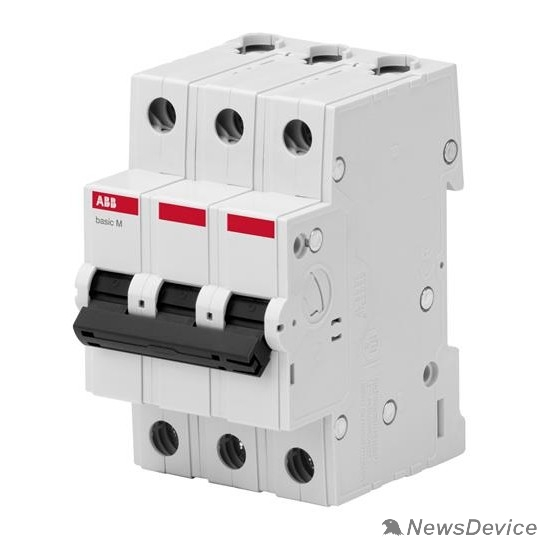 АВВ Автоматы Basic M ABB 2CDS643041R0634 Авт. выкл. 3P, 63A, C, 4,5кА, BMS413C63
