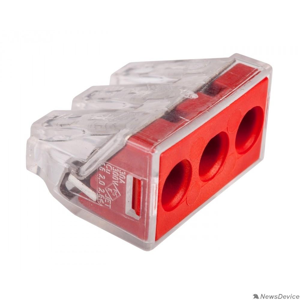 WAGO Клеммы Wago 773-173 Клемма 3-проводная (2.5-6.0 кв.мм) красная