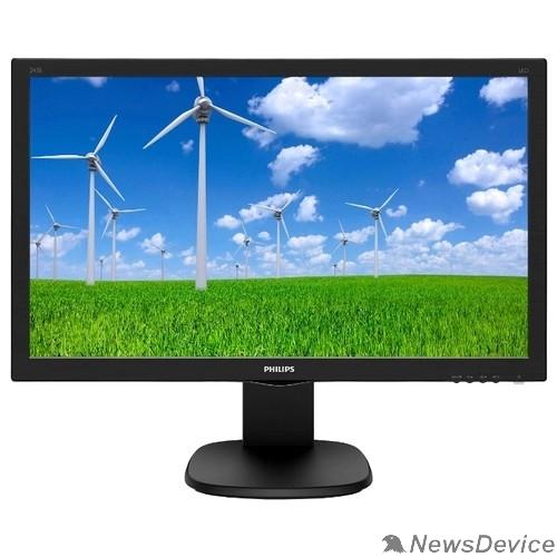 """Монитор LCD PHILIPS 23.6"""" 243S5LHMB (00/01) черный TN 1920x1080 1ms 1000:1 16:9 250cd D-Sub HDMI"""