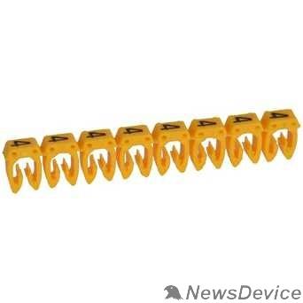 LEGRAND Кабель-каналы, аксессуары Legrand 038214 Маркер CAB 3 - для кабеля 0,5-1,5 мм3 - цифра 4 - желтый