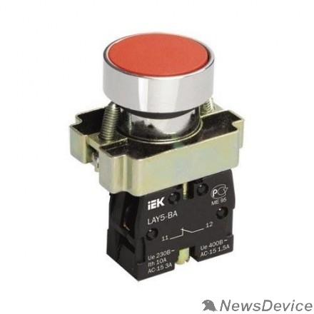 Контакторы IEK BBT60-BA-K04 Кнопка управления LAY5-BA41 без подсветки красная 1з