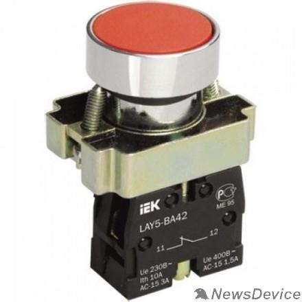 Контакторы IEK BBT61-BA-K04 Кнопка управления LAY5-BA42 без подсветки красная 1р
