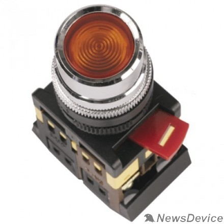 Контакторы IEK BBT10-ABLF-K04 Кнопка ABLF-22 красный d22 мм неон/240В 1з+1р