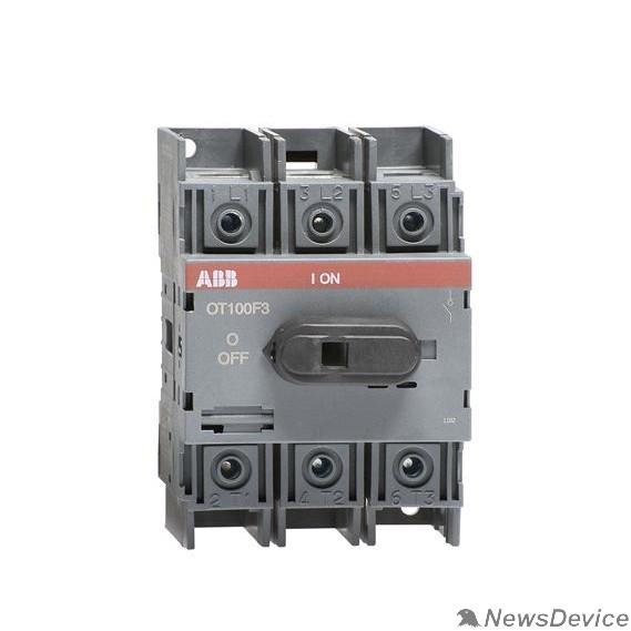 Кулачковые переключатели ABB 1SCA105033R1001 Рубильник OT125F3 до 125А 3х-полюсный для установки на DIN-рейку или монтажную плату (с резерв. ручкой)