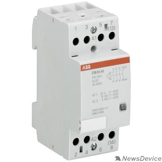 Контакторы АВВ ABB GHE3291102R0006 Модульный контактор ESB-24-40 (24А AC1) катушка 220В АС/DC