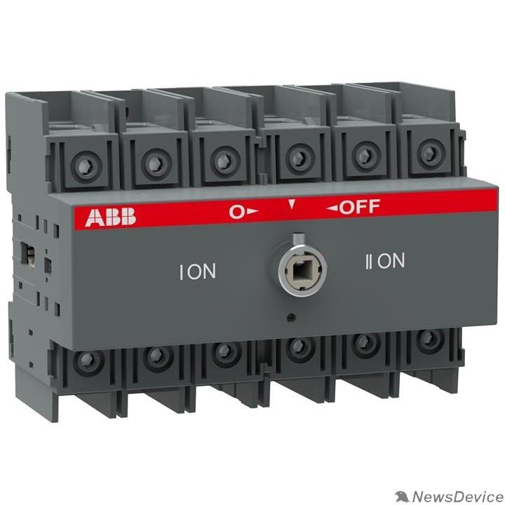 Кулачковые переключатели ABB 1SCA105008R1001 Реверсивный рубильник OT100F3C до 100А 3х-полюсный для установки на DIN-рейку или монтажную плату (без ручки)