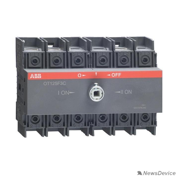 Кулачковые переключатели ABB 1SCA105037R1001 Реверсивный рубильник OT125F3C до 125А 3х-полюсный для установки на DIN-рейку или монтажную плату (без ручки)
