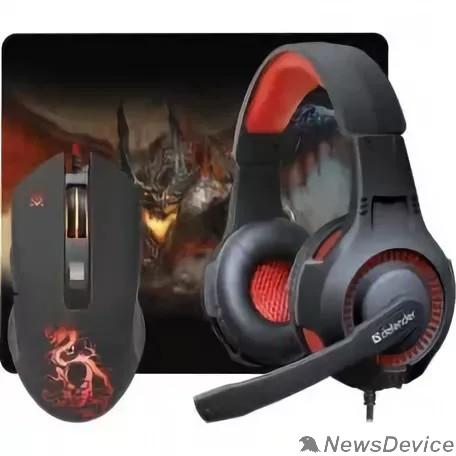 Клавиатура Defender Игровой набор Devourer MHP-006 52006 мышь+гарнитура+ковер
