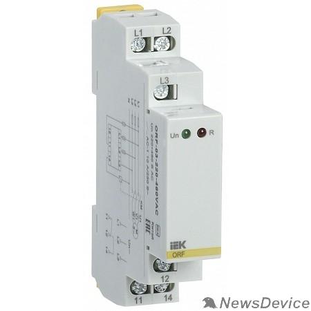 Контакторы IEK ORF-08-220-460VAC Реле фаз ORF 08. 3ф 220-460 В AC